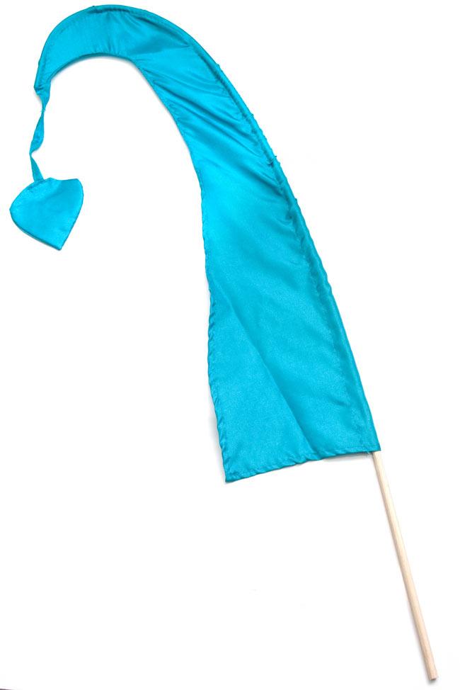 [水色]カラフルプリントウンブル・ウンブル(バリのぼり旗)【約50cm】の写真