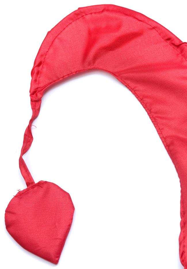 [レッド]カラフルプリント - ウンブル・ウンブル(バリのぼり旗)【約50cm】 2 - 先端部分の拡大写真になります
