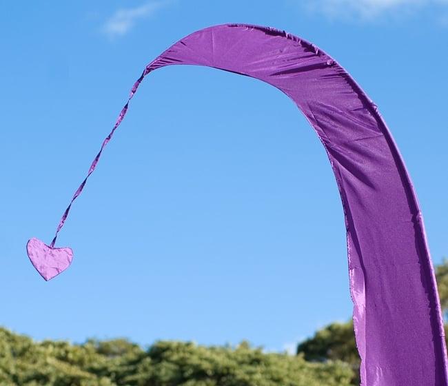 [パープル]カラフルプリント - ウンブル・ウンブル(バリのぼり旗)【約220cm】 2 - 先端部分の拡大写真になります