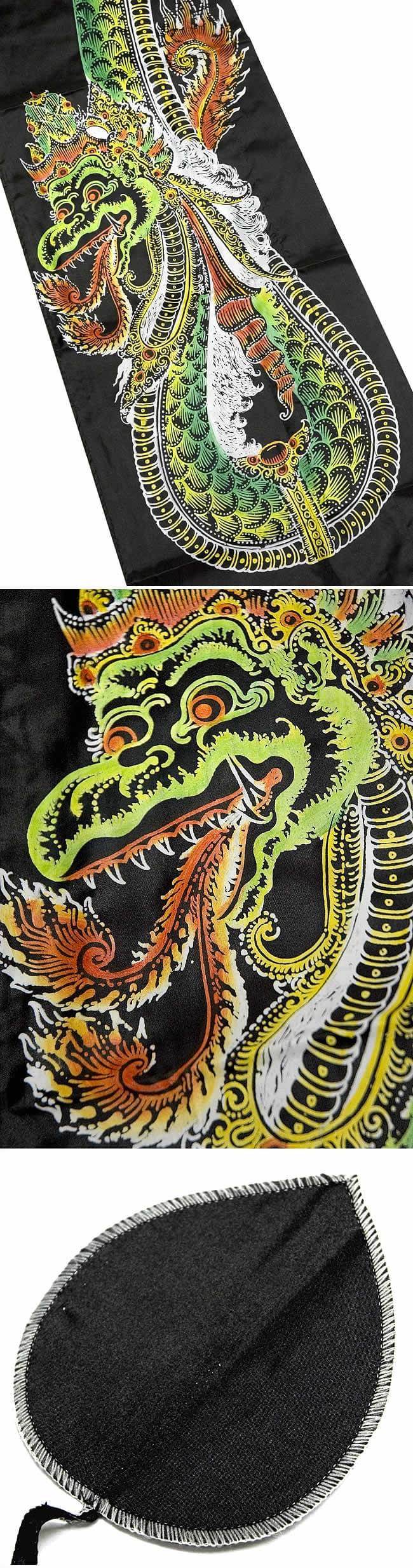 龍プリントウンブル・ウンブル(バリのぼり旗)【約450cm】の写真1