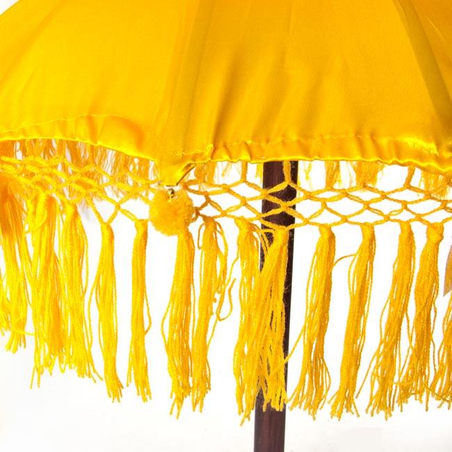 バリの2段の傘(黄色) - 70cmと80cmの写真3 - 傘の下部の写真です