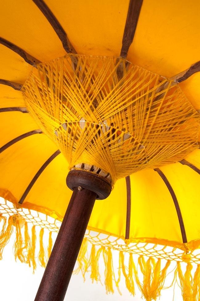 バリの2段の傘(黄色) - 70cmと80cmの写真4 - 傘の内側はこんな感じです