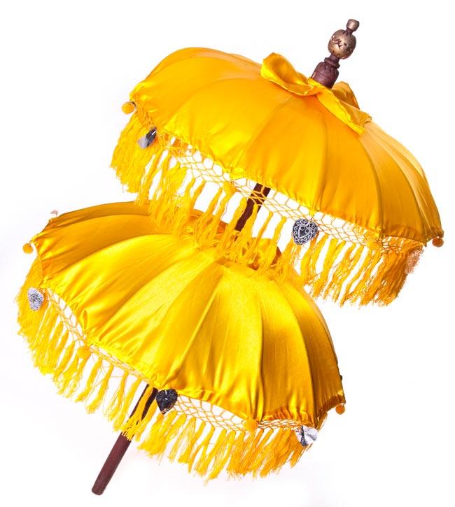 バリの2段の傘(黄色) - 70cmと80cmの写真