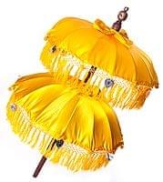 バリの2段の傘(黄色) - 70cmと80