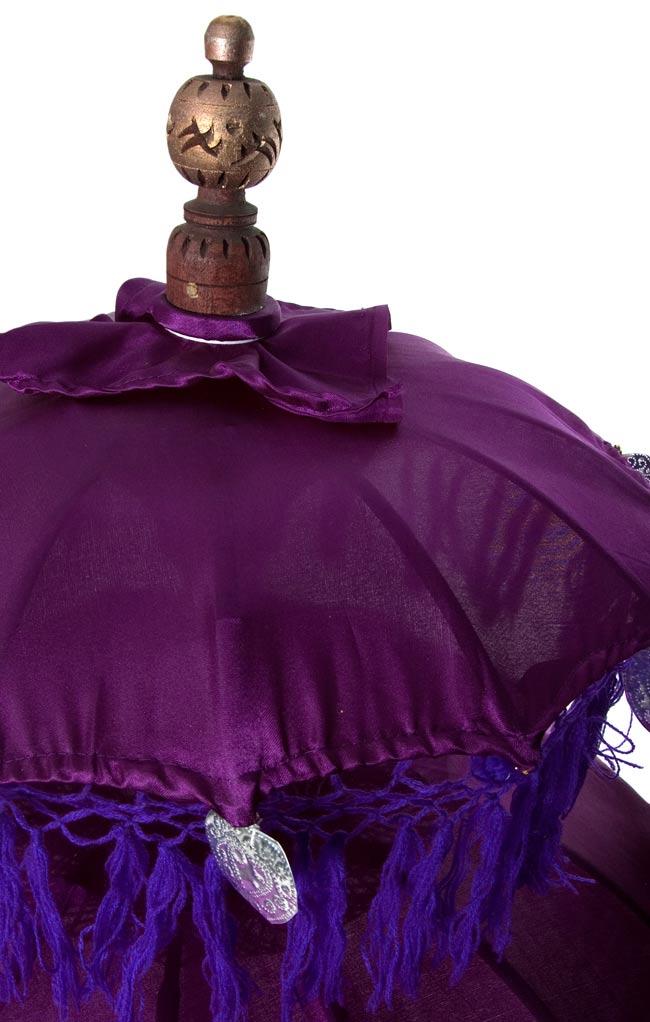バリの2段の傘(紫) - 70cmと80cmの写真2 - 傘の上の部分の写真です