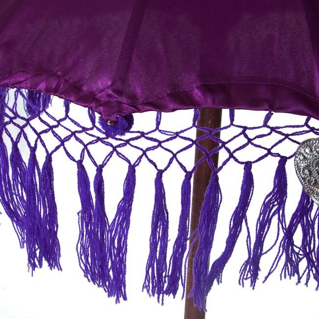 バリの2段の傘(紫) - 70cmと80cmの写真3 - 傘の下部の写真です