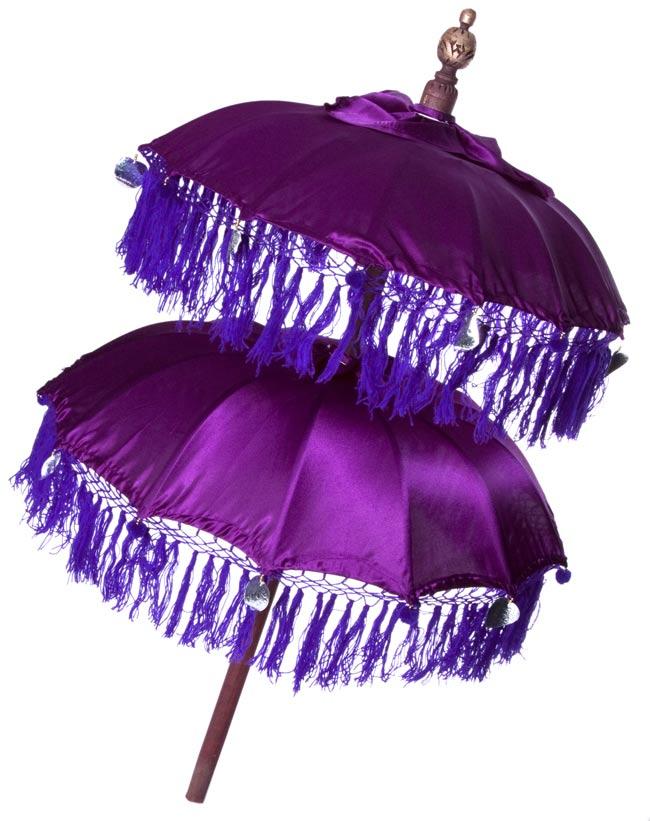 バリの2段の傘(紫) - 70cmと80cmの写真