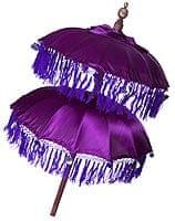 バリの2段の傘(紫) - 70cmと80cm