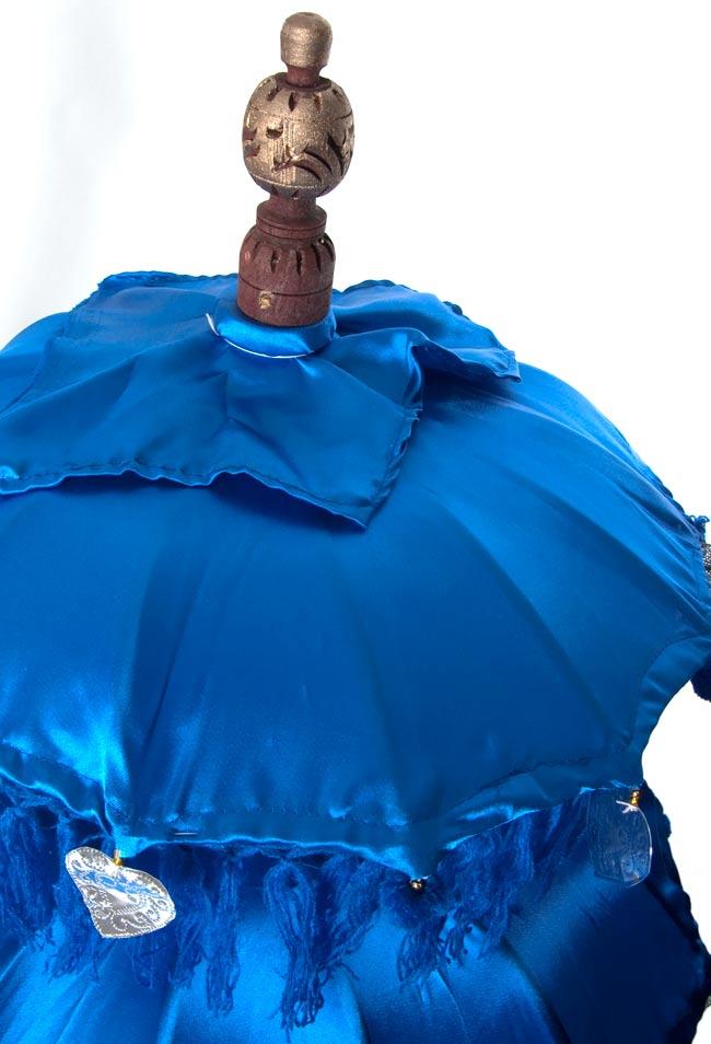 バリの2段の傘(青) - 70cmと80cmの写真2 - 傘の上の部分の写真です