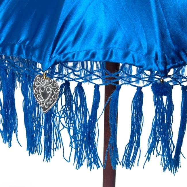 バリの2段の傘(青) - 70cmと80cmの写真3 - 傘の下部の写真です