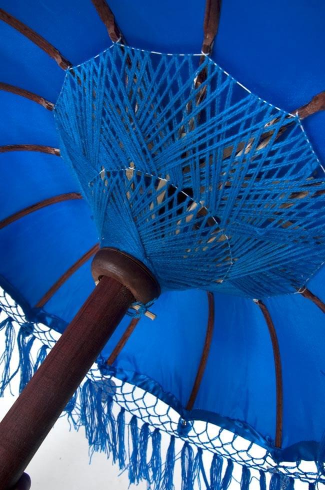 バリの2段の傘(青) - 70cmと80cmの写真4 - 傘の内側はこんな感じです