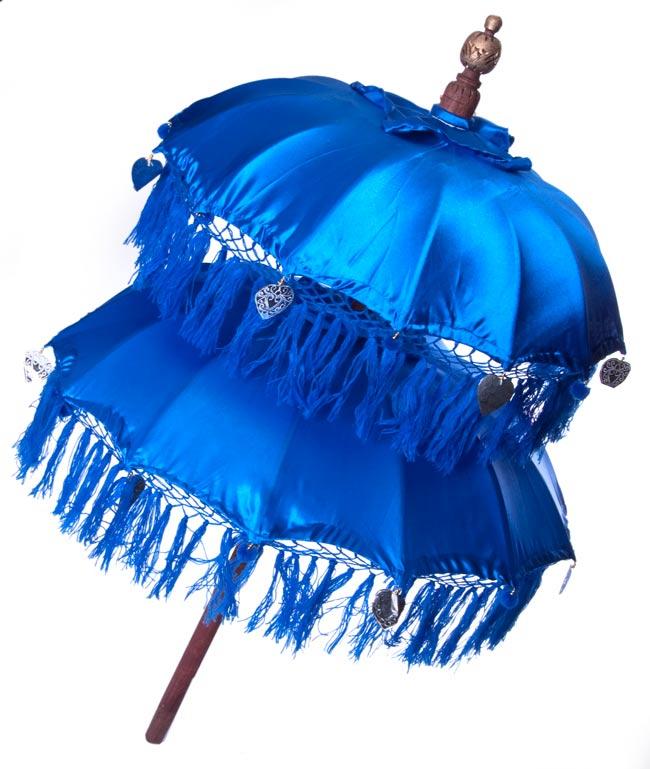 バリの2段の傘(青) - 70cmと80cmの写真