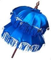 バリの2段の傘(青) - 70cmと80cm