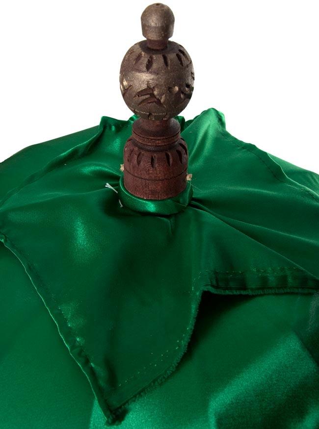 バリの2段の傘(緑) - 70cmと80cmの写真2 - 傘の上の部分の写真です