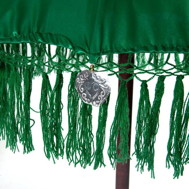 バリの2段の傘(緑) - 70cmと80cmの写真3 - 傘の下部の写真です