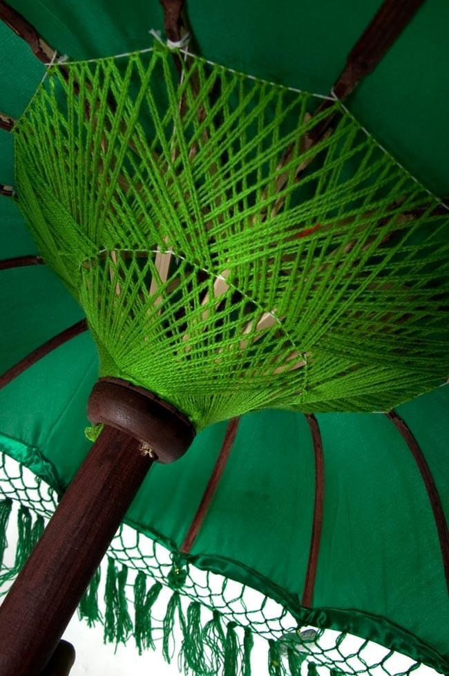 バリの2段の傘(緑) - 70cmと80cmの写真4 - 傘の内側はこんな感じです