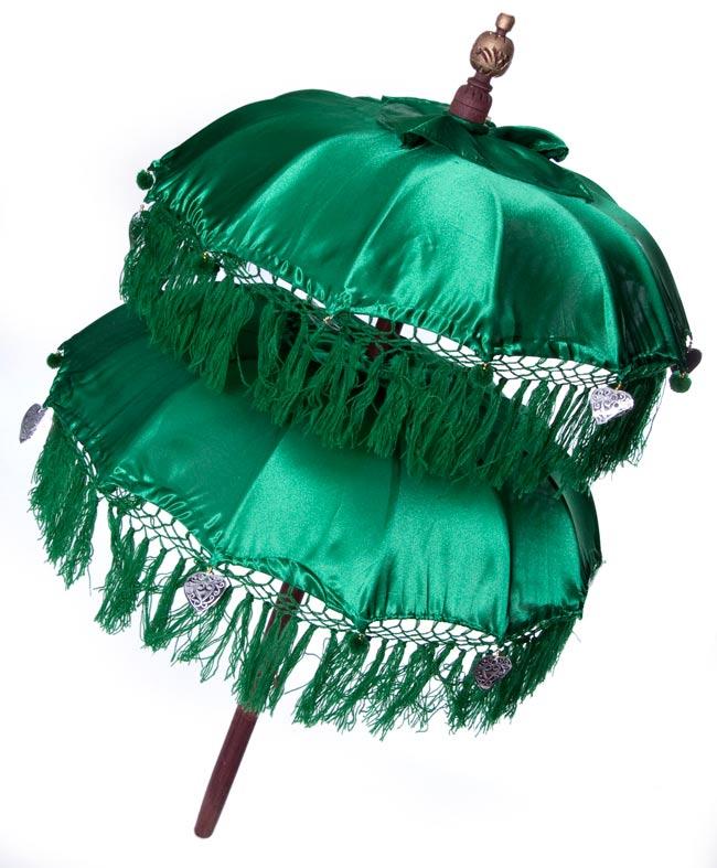 バリの2段の傘(緑) - 70cmと80cmの写真