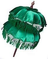 バリの2段の傘(緑) - 70cmと80cm
