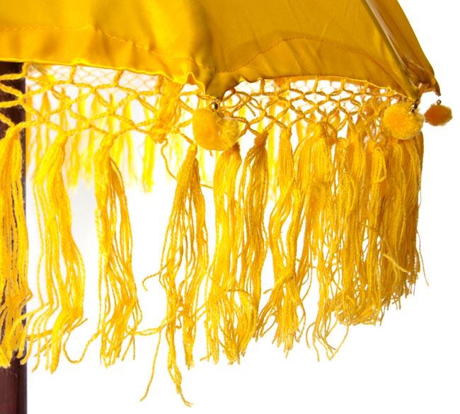 バリの傘(黄色) - 80cmの写真3 - 傘の下部の写真です