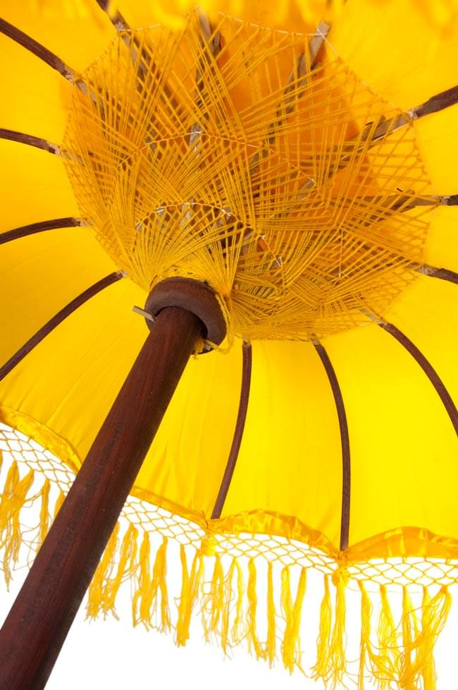 バリの傘(黄色) - 80cmの写真4 - 傘の内側はこんな感じです