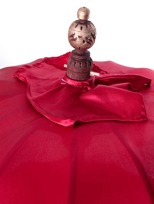 バリの2段の傘(赤) - 70cmと80cmの写真2 - 傘の上の部分の写真です