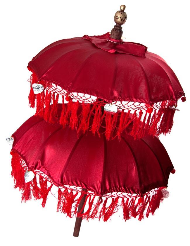 バリの2段の傘(赤) - 70cmと80cmの写真