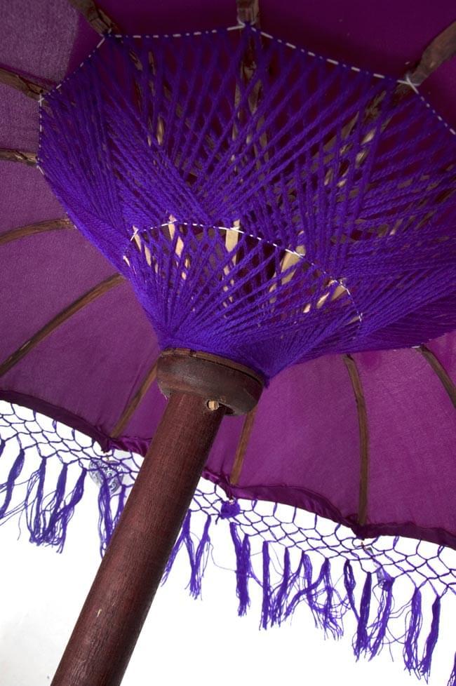 バリの2段の傘(紫) - 50cmと75cmの写真4 - 傘の内側はこんな感じです