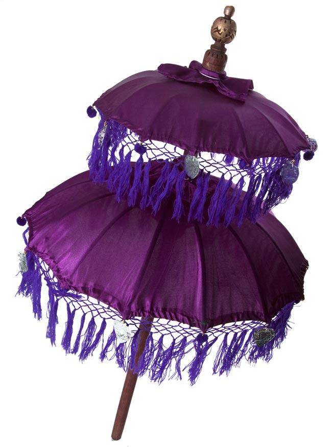 バリの2段の傘(紫) - 50cmと75cmの写真