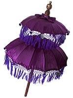 バリの2段の傘(紫) - 50cmと75cm