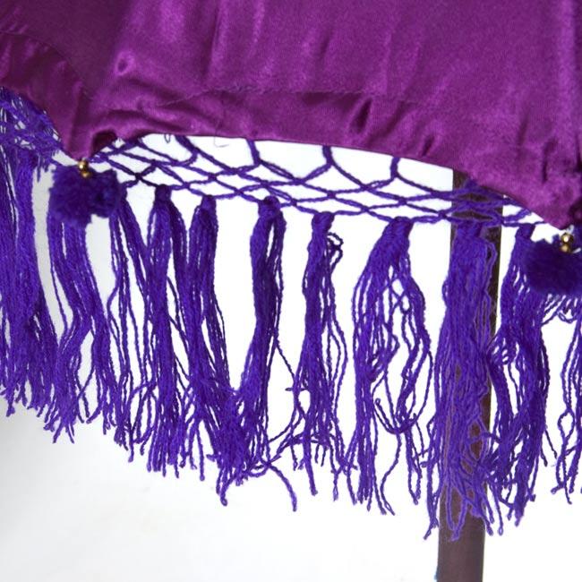 バリの傘(紫) - 80cmの写真3 - 傘の下部の写真です