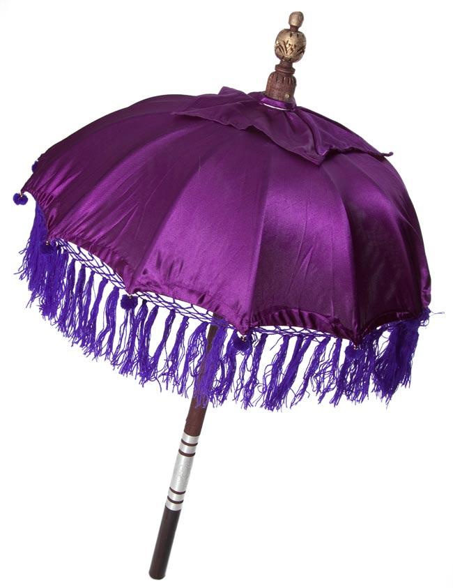 バリの傘(紫) - 80cmの写真