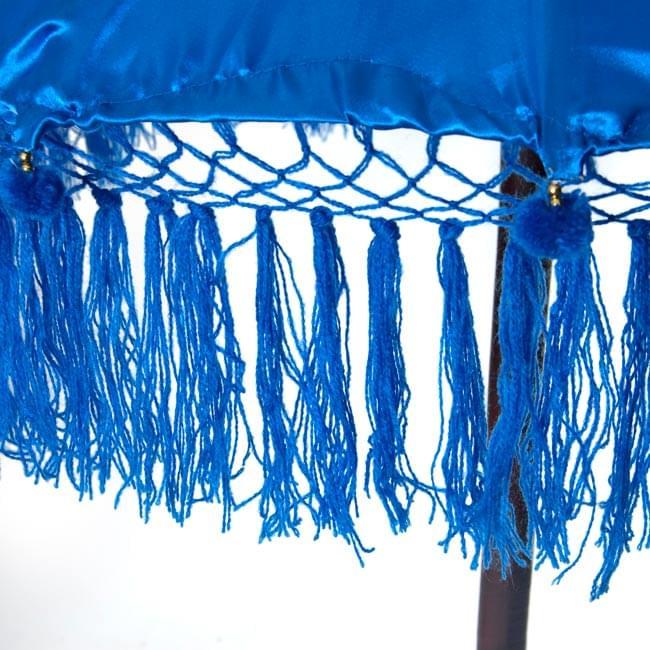 バリの傘(青) - 80cmの写真3 - 傘の下部の写真です