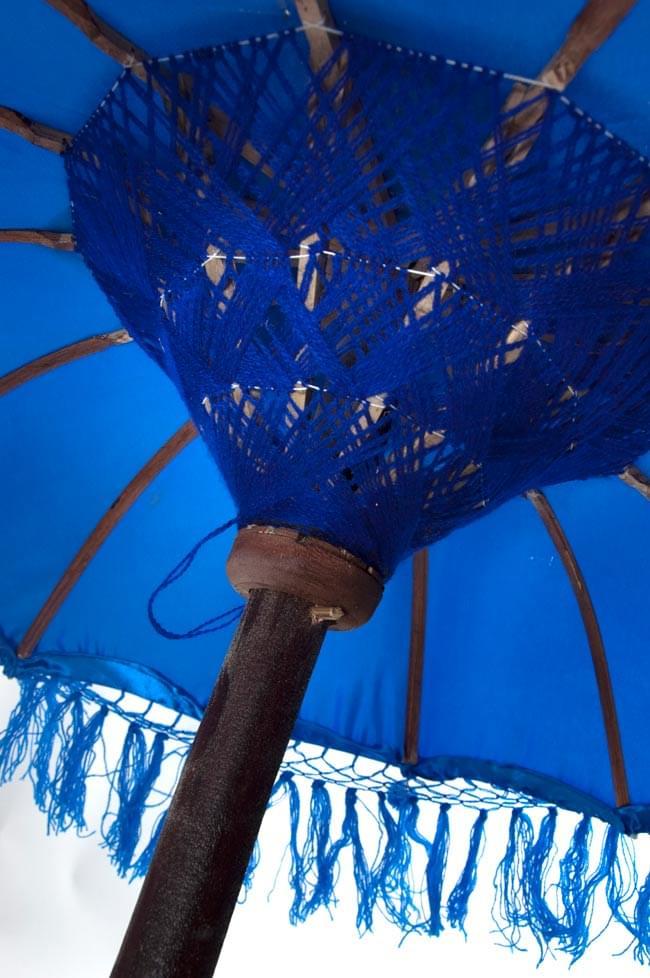 バリの傘(青) - 80cmの写真4 - 傘の内側はこんな感じです
