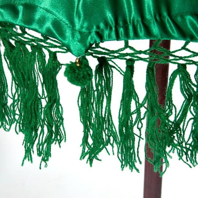 バリの傘(緑) - 80cmの写真3 - 傘の下部の写真です