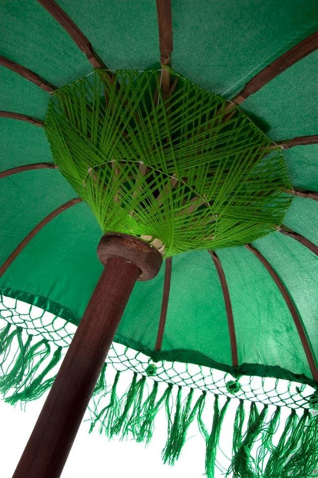 バリの傘(緑) - 80cmの写真4 - 傘の内側はこんな感じです