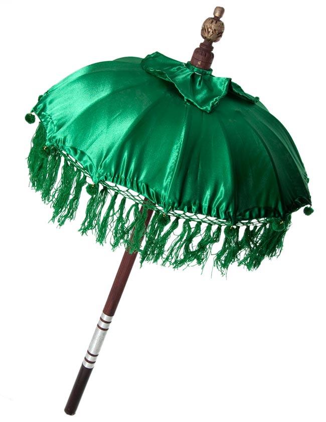 バリの傘(緑) - 80cmの写真