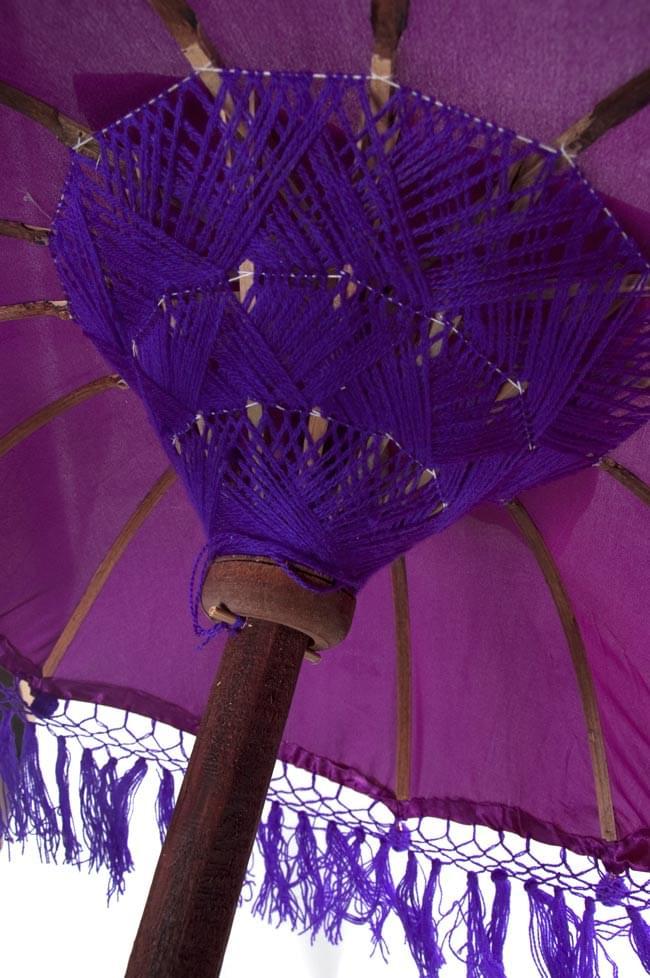 バリの傘(紫) - 70cmの写真4 - 傘の内側はこんな感じです