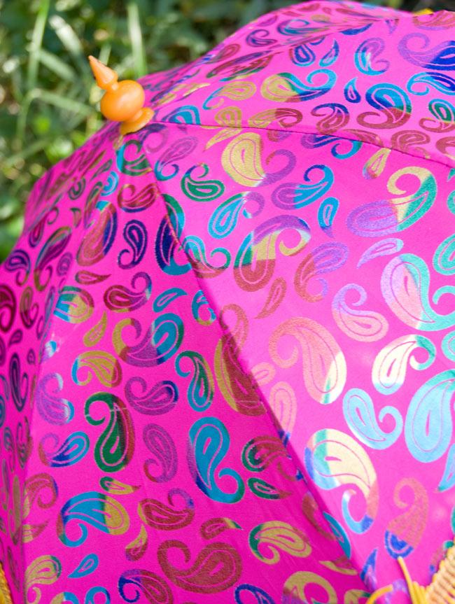 デコレーション用傘 - マルチカラー・紫の写真2 - 傘のアップです