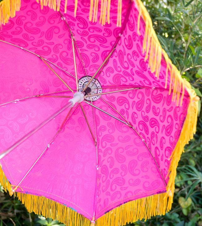 デコレーション用傘 - マルチカラー・紫の写真3 - 傘の裏面はこんな感じです