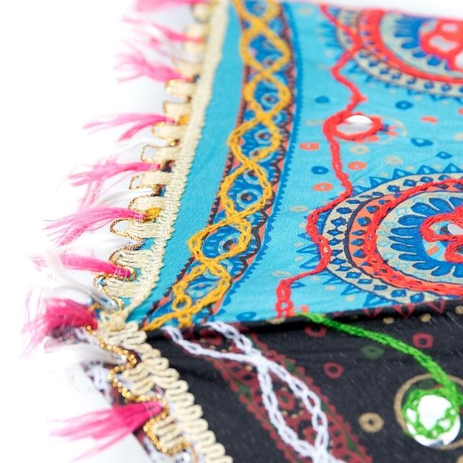 〔アソート〕インド・ラジャスタンの刺繍傘・日傘 - 直径60cm程度 11 - 縁の写真
