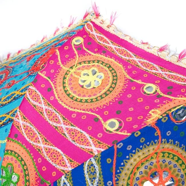〔アソート〕インド・ラジャスタンの刺繍傘・日傘 - 直径60cm程度 5 - 拡大です