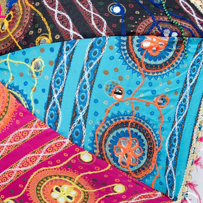〔アソート〕インド・ラジャスタンの刺繍傘・日傘 - 直径60cm程度 7 - どちらもかわいいです