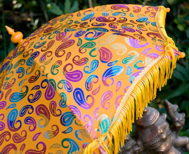 デコレーション用傘 - マルチカラー・黄色の写真2 - 傘のアップです