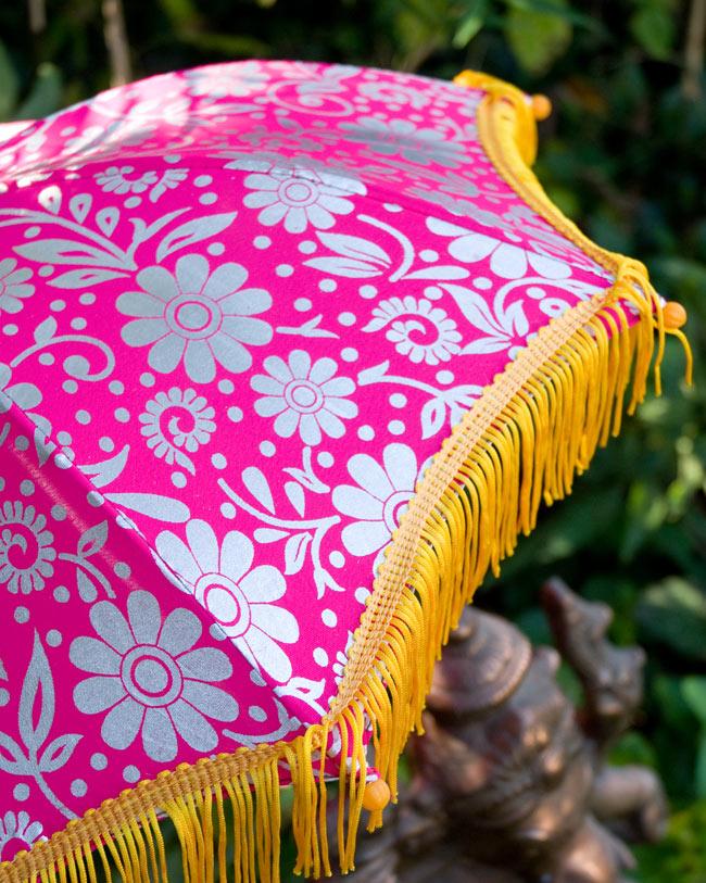 デコレーション用傘 - シルバー・紫の写真2 - 傘のアップです