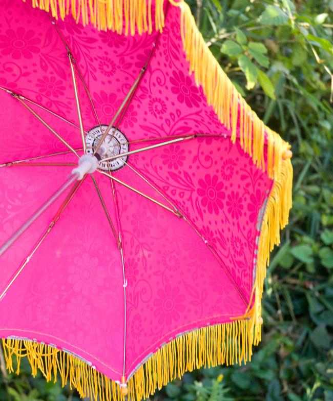 デコレーション用傘 - シルバー・紫の写真3 - 傘の裏面はこんな感じです
