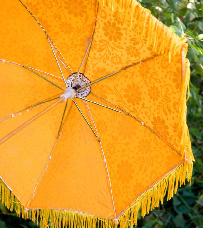 デコレーション用傘 - シルバー・黄色の写真3 - 傘の裏面はこんな感じです