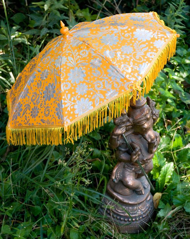 デコレーション用傘 - シルバー・黄色の写真