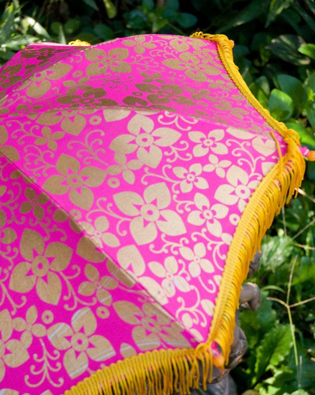 デコレーション用傘 - ゴールド・紫の写真2 - 傘のアップです