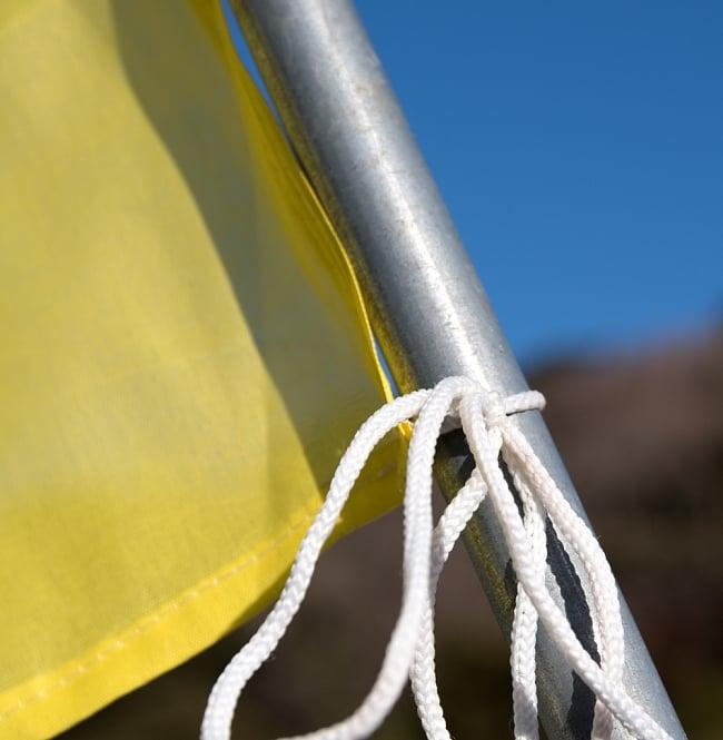 5色の縦型タルチョー【約160cm×50cm】 5 - 紐ですので簡単に結べます