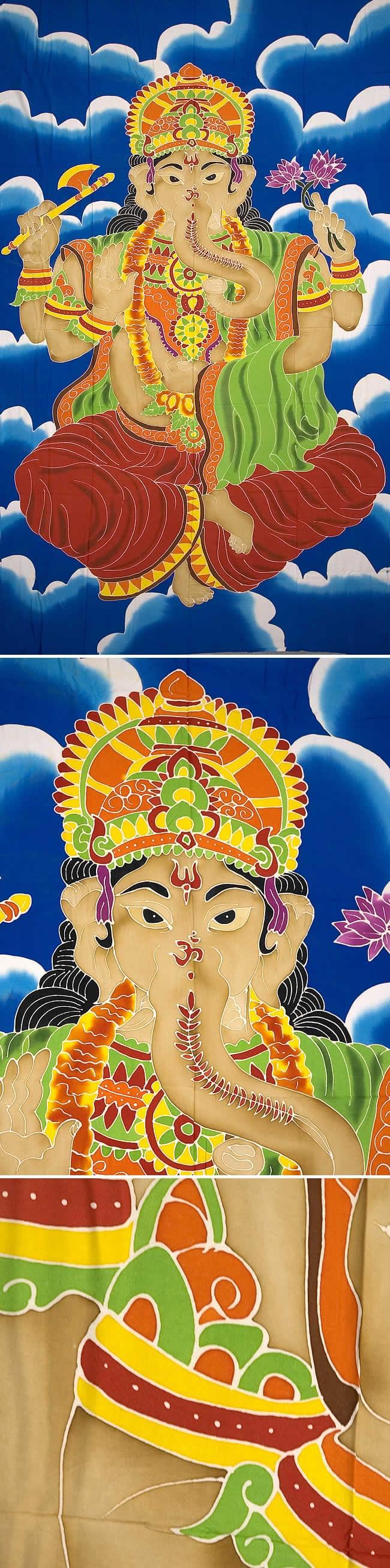 バティック神様布(ガネーシャ)の写真1